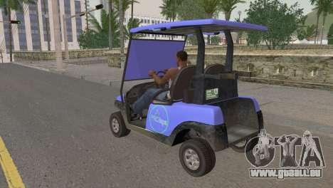 Caddy from GTA 5 pour GTA San Andreas laissé vue