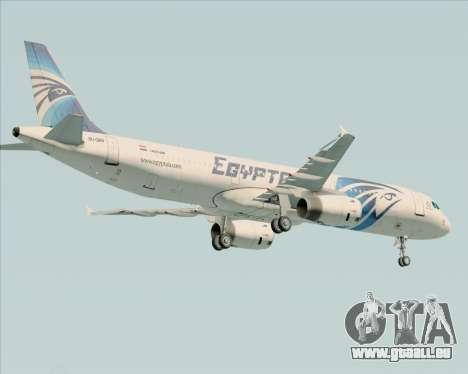 Airbus A321-200 EgyptAir für GTA San Andreas Rückansicht