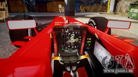 Ferrari F138 v2.0 [RIV] Alonso TMD pour GTA 4 est une vue de l'intérieur