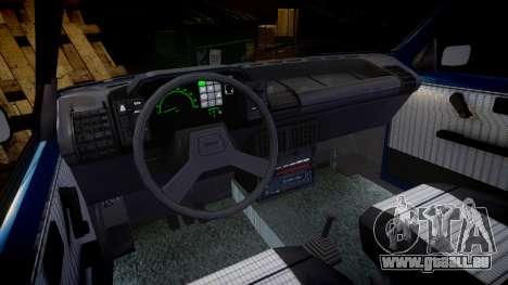 Fiat Uno pour GTA 4 est une vue de l'intérieur