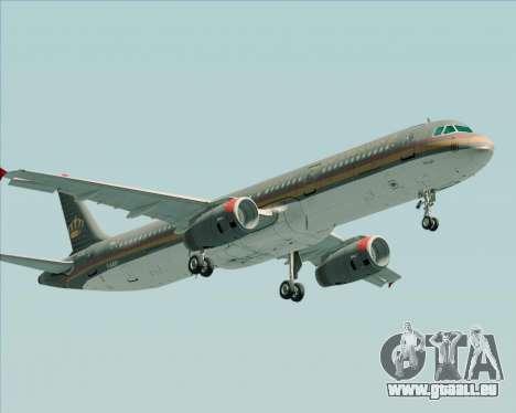 Airbus A321-200 Royal Jordanian Airlines für GTA San Andreas linke Ansicht