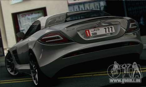 Mercedes-Benz SLR McLaren pour GTA San Andreas sur la vue arrière gauche