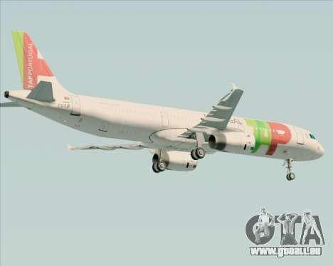 Airbus A321-200 TAP Portugal für GTA San Andreas rechten Ansicht