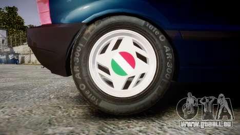 Fiat Uno pour GTA 4 Vue arrière