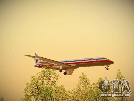 Bombardier CRJ-700 American Eagle pour GTA San Andreas vue de côté