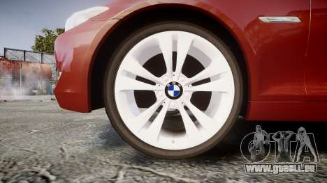 BMW 530d F11 pour GTA 4 Vue arrière