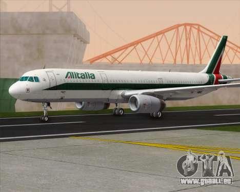 Airbus A321-200 Alitalia pour GTA San Andreas sur la vue arrière gauche
