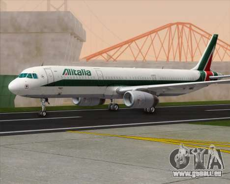 Airbus A321-200 Alitalia für GTA San Andreas zurück linke Ansicht