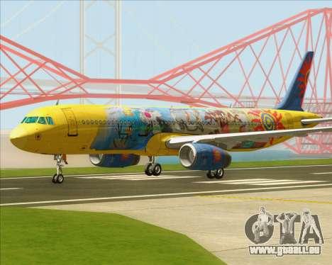 Airbus A321-200 für GTA San Andreas linke Ansicht