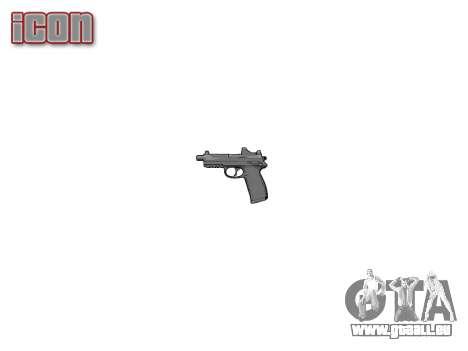 Pistolet FNP-45 pour GTA 4 troisième écran