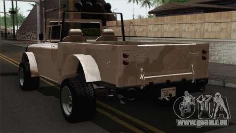 Canis Bodhi V1.0 Army pour GTA San Andreas laissé vue