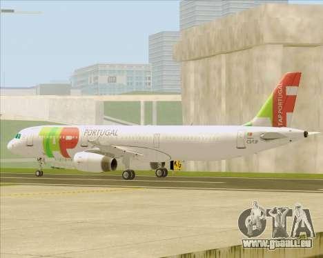 Airbus A321-200 TAP Portugal pour GTA San Andreas vue de dessous
