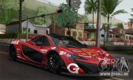 McLaren P1 HQ pour GTA San Andreas vue de dessous