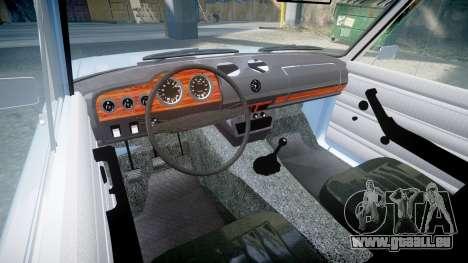 AIDE-2106 (Lada 2106) pour GTA 4 est une vue de l'intérieur