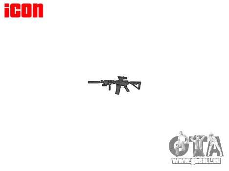 Maschine Taktische M4A1 CQB für GTA 4 dritte Screenshot