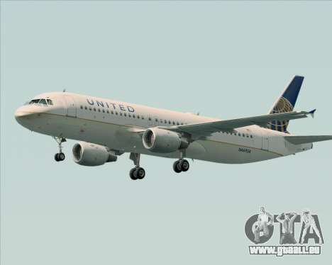 Airbus A320-232 United Airlines pour GTA San Andreas roue