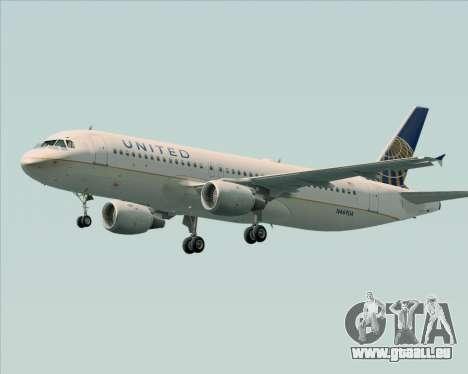 Airbus A320-232 United Airlines für GTA San Andreas Räder