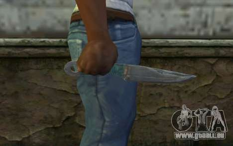 Knife from Metro 2033 für GTA San Andreas dritten Screenshot