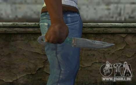 Knife from Metro 2033 pour GTA San Andreas troisième écran