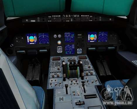 Airbus A321-200 British Midland International für GTA San Andreas Innen