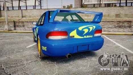 Subaru Impreza WRC 1998 Rally v2.0 Green pour GTA 4 Vue arrière de la gauche