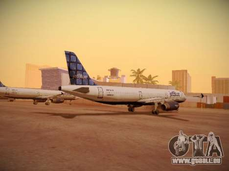 Airbus A321-232 jetBlue Blue Kid in the Town für GTA San Andreas zurück linke Ansicht