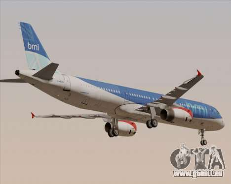 Airbus A321-200 British Midland International für GTA San Andreas obere Ansicht