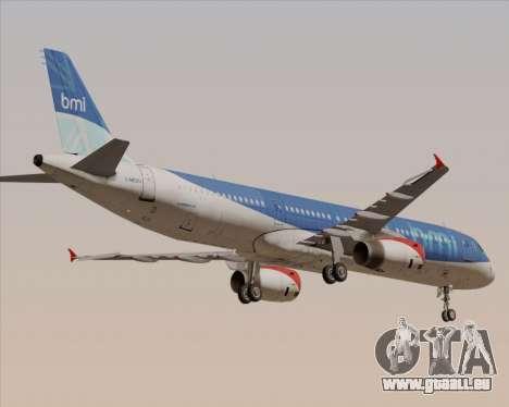 Airbus A321-200 British Midland International pour GTA San Andreas vue de dessus