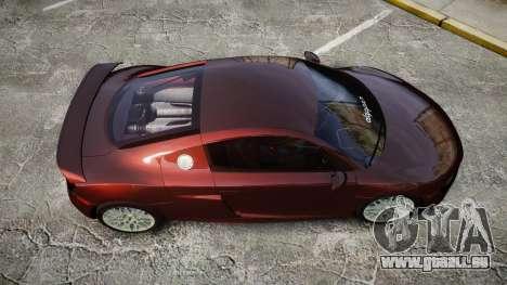 Audi R8 2010 Rotiform BLQ pour GTA 4 est un droit