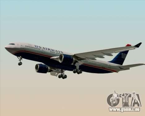 Airbus A330-200 US Airways pour GTA San Andreas sur la vue arrière gauche