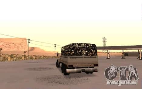 Caserne avec quatre portes pour GTA San Andreas sur la vue arrière gauche