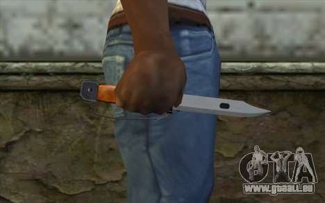 Knife from Half - Life Paranoia pour GTA San Andreas troisième écran