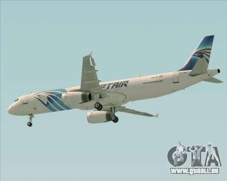 Airbus A321-200 EgyptAir pour GTA San Andreas vue de dessous