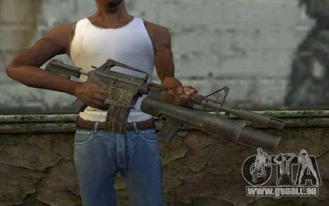 CAR-15 with XM-148 from Battlefield: Vietnam pour GTA San Andreas troisième écran