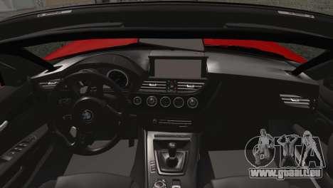 BMW Z4 sDrive28i 2012 Racing für GTA San Andreas zurück linke Ansicht