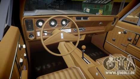 Oldsmobile Vista Cruiser 1972 Rims1 Tree4 pour GTA 4 Vue arrière