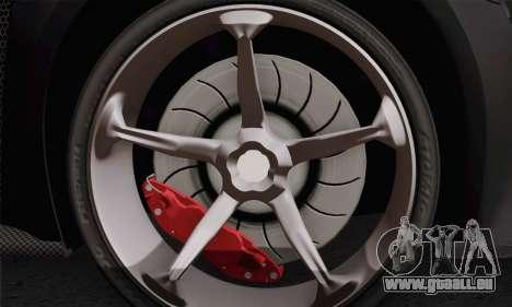 Zenvo ST1 v1.2 Final HD pour GTA San Andreas sur la vue arrière gauche