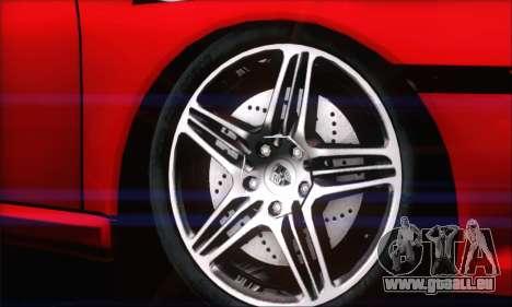 Porsche 997 Turbo Tunable pour GTA San Andreas sur la vue arrière gauche