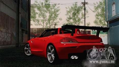 BMW Z4 sDrive28i 2012 Racing pour GTA San Andreas laissé vue
