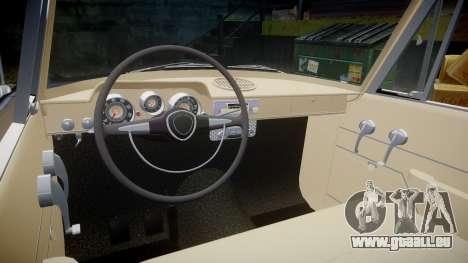 FSO Warszawa Ghia 1959 pour GTA 4 est une vue de l'intérieur