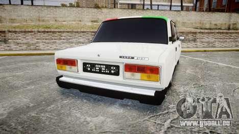 VAZ-2107 Italie pour GTA 4 Vue arrière de la gauche