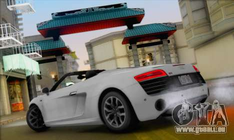 Audi R8 V10 Spyder 2014 pour GTA San Andreas vue de droite