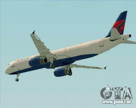 Airbus A321-200 Delta Air Lines pour GTA San Andreas vue de côté
