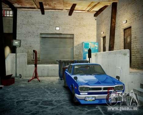 Garage avec de nouveaux intérieur Alcaline pour GTA 4 sixième écran