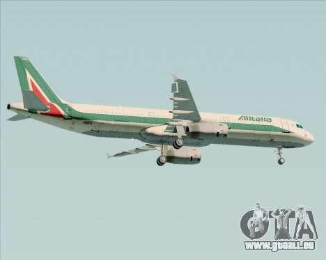 Airbus A321-200 Alitalia für GTA San Andreas obere Ansicht