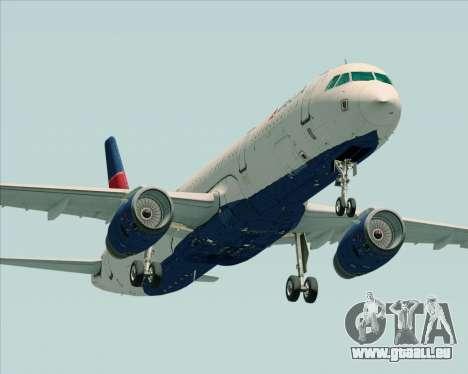Airbus A321-200 Delta Air Lines für GTA San Andreas linke Ansicht
