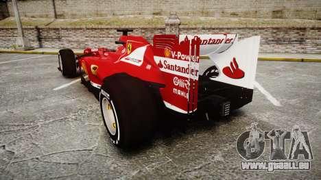 Ferrari F138 v2.0 [RIV] Alonso TMD pour GTA 4 Vue arrière de la gauche