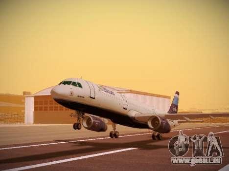 Airbus A321-232 Big Blue Bus pour GTA San Andreas laissé vue