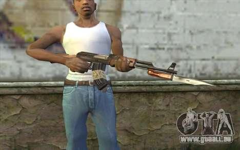 AK47 from Firearms v1 pour GTA San Andreas troisième écran