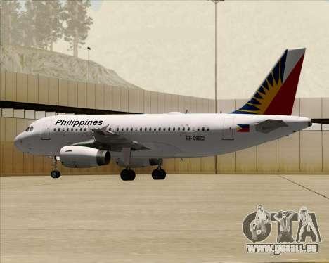 Airbus A319-112 Philippine Airlines für GTA San Andreas Seitenansicht